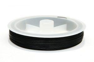 Plastad Wire 0.60mm Svart, Hel rulle 40m