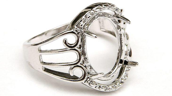 Antiksilver Ringstomme med plätering av äkta silver