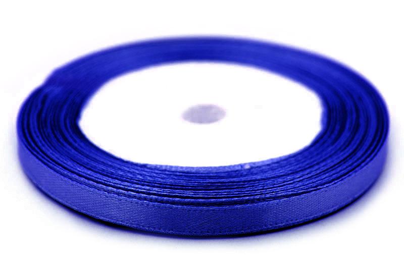 Sidenband, hel rulle 22m, Blå 6mm