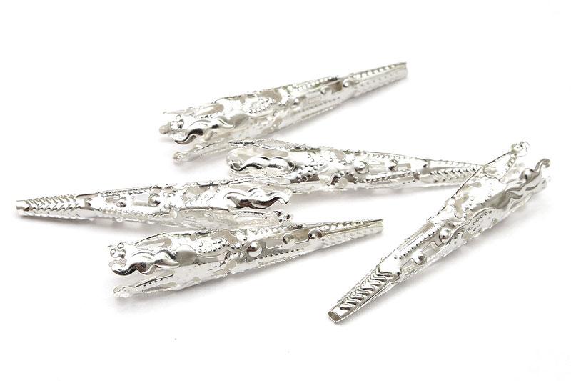 Silverpläterade pärlhattar Stora filigrankoner