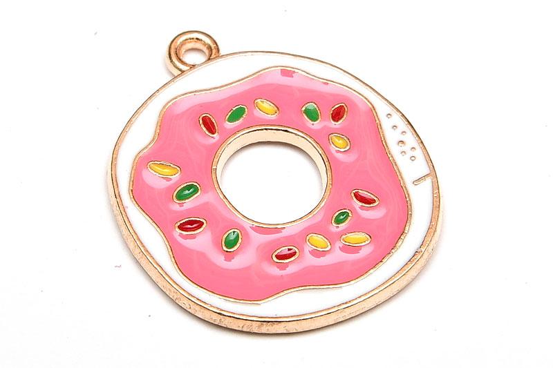 Emaljerad berlock Munk med rosa glaze