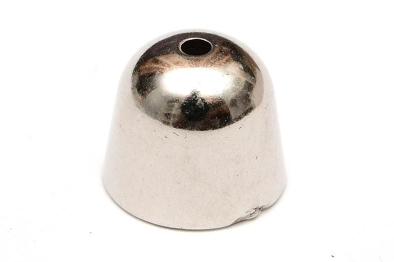 Stor pärlhatt i Akryl, Antiksilver 17x15mm