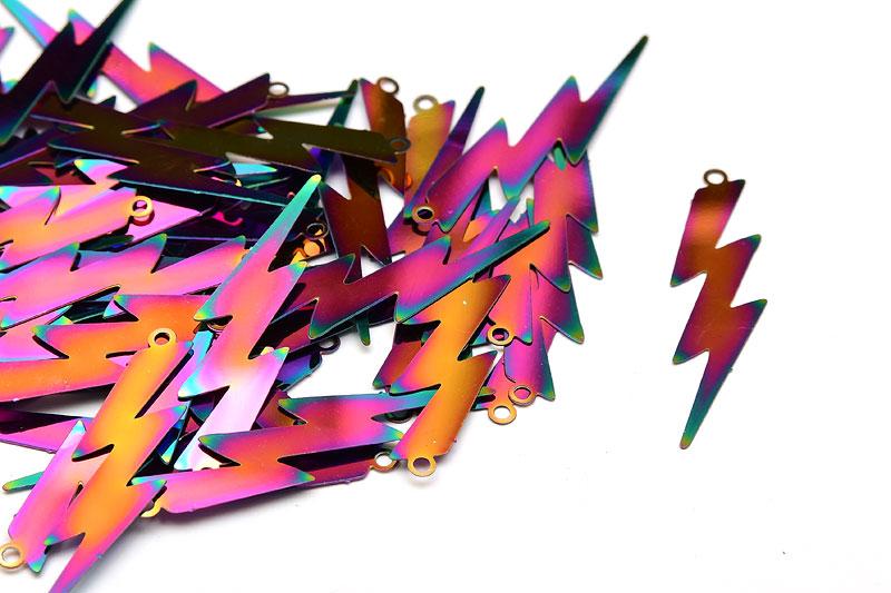 Tunn metall Blixt med skiftande metallic färg