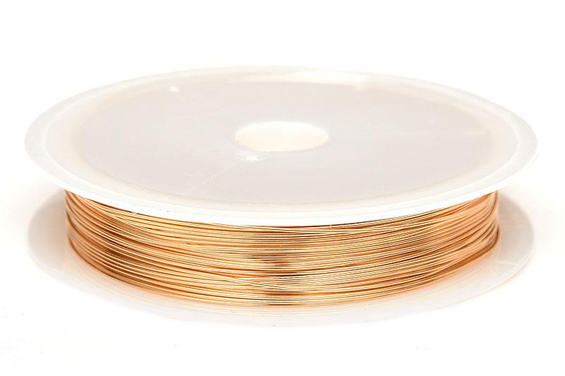 Koppartråd 0.5mm, 6m, Ljus Guld