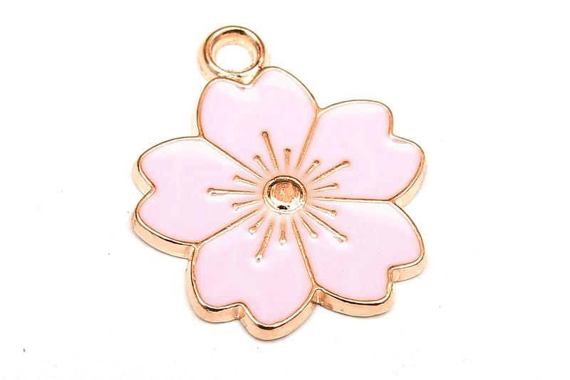 Emaljerad berlock Körsbärsblom Rosa
