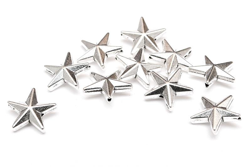 Antiksilver metallpärlor Stjärnor