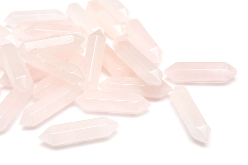 Slipad kristallspets, Rosenkvarts, 33mm